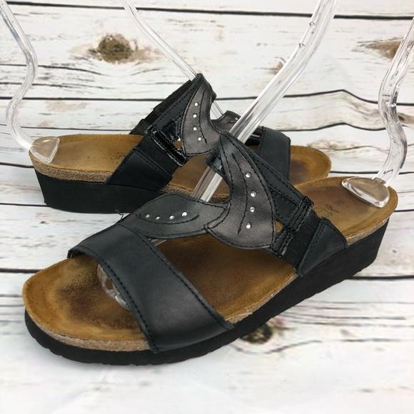 6752b0f0fd3b Naot Sandals Size 39 Black Slide Womens Shoes. M 5b44033345c8b3bd968f9623